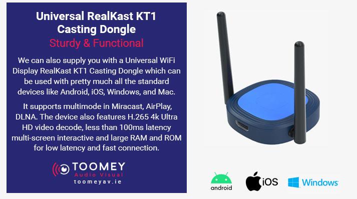 Universal RealKast KT1 Casting Dongle for Classroom - Toomey AV