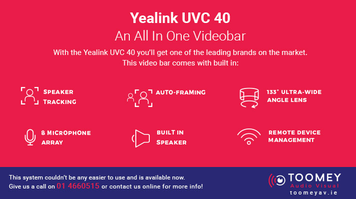Yealink UVC 40 Videobar - Toomey AV Ireland