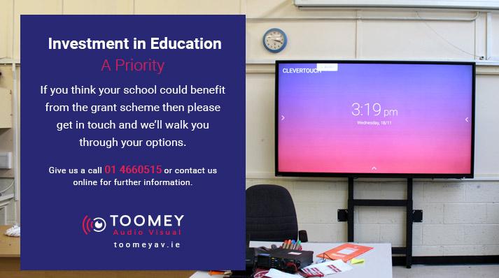 Investment in Education - Irish Grant Scheme - Toomey AV