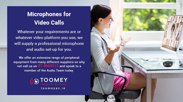 Professional Microphones for Video Calls - Toomey AV Ireland