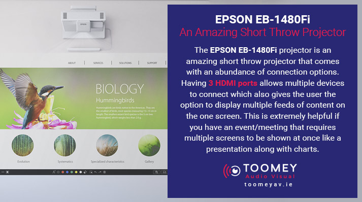 EPSON EB-1480Fi - An Amazing Short Throw Projector - Toomey AV
