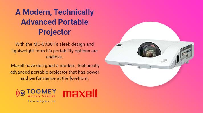 Maxell MC-CX301s Projector 2021 Schools - Toomey AV