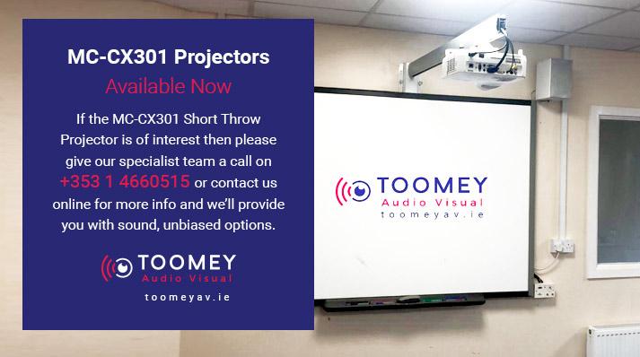 Maxell Short Throw Projector MC-CX301 Available Now - Toomey AV Dublin