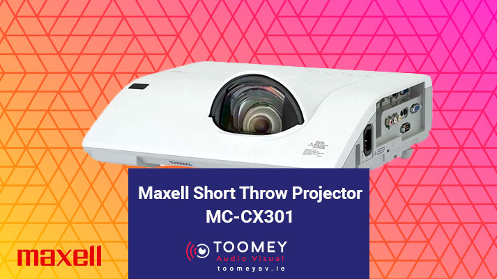 Maxell Short Throw Projector MC-CX301 - Toomey AV Dublin