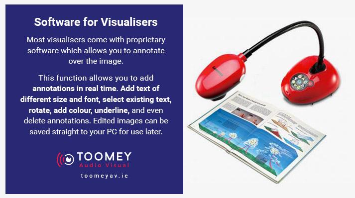 Software Visualiser Add Notes - Toomey AV Ireland for Schools