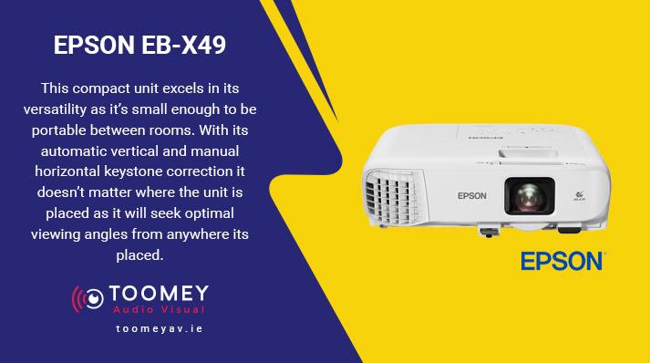 Projectors Schools - EPSON EB-X49 - Audiovisual Providers Ireland
