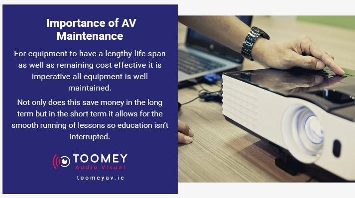 Audiovisual Maintenance Schools - Toomey Ireland