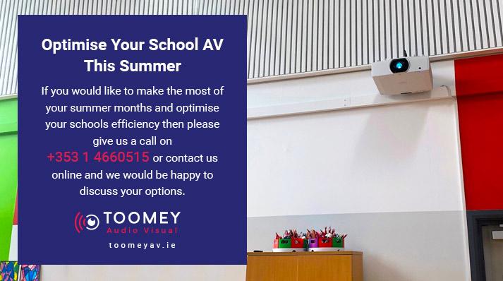 Optimise Schools Audiovisual - Toomey Ireland